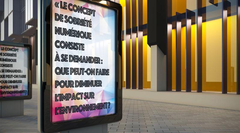 Pour une sobriété numérique des écrans publicitaires